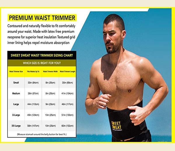 %شکم بند مردانه چربی سوز لاغری SWEET SWEAT